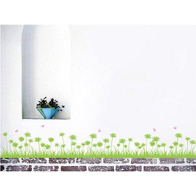 Grass and Butterflies Wall Decal