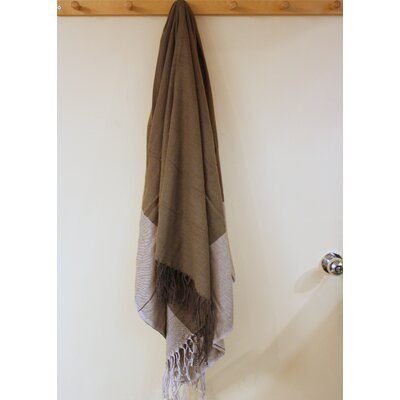 Kristalle Fringed Cotton Throw Color: Brown