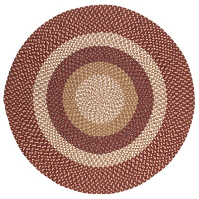 Fabric Multi Red Area Rug Rug Size: Round 4'