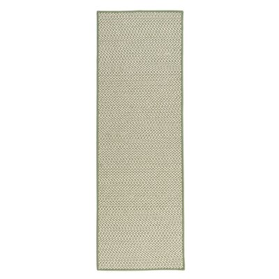 Outdoor Houndstooth Tweed Leaf Green Rug Rug Size: Runner 2 x 8