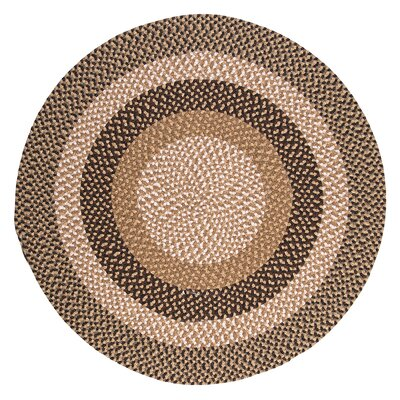 Fabric Multi Brown Area Rug Rug Size: Round 5