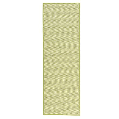 Outdoor Houndstooth Tweed Lime Area Rug Rug Size: Runner 2 x 12