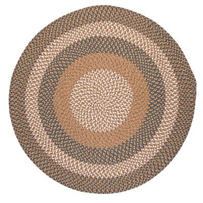 Fabric Multi Blue/Beige Area Rug Rug Size: Round 5