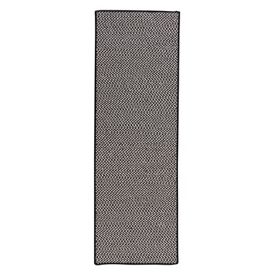 Outdoor Houndstooth Tweed Black Rug Rug Size: Runner 2 x 8
