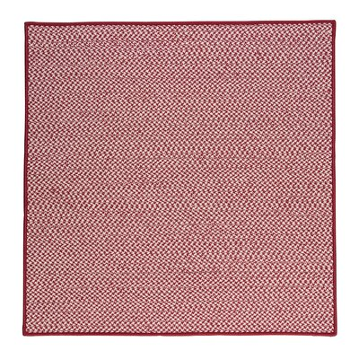 Outdoor Houndstooth Tweed Sangria Area Rug Rug Size: Square 4