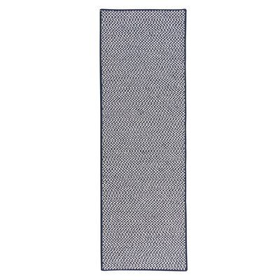 Outdoor Houndstooth Tweed Navy Rug Rug Size: Runner 2 x 10