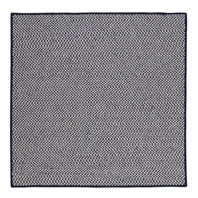 Outdoor Houndstooth Tweed Navy Rug Rug Size: Square 10