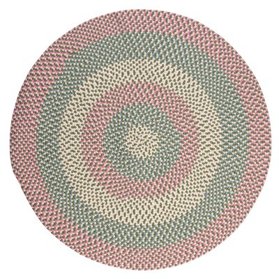 Carousel Bubble Green / Pink Area Rug Rug Size: Round 10