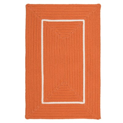Doodle Edge Orange Border in Border Indoor/Outdoor Area Rug Rug Size: 8 x 10