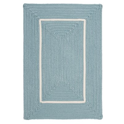 Doodle Edge Light Blue Border in Border Indoor/Outdoor Area Rug Rug Size: 2 x 3