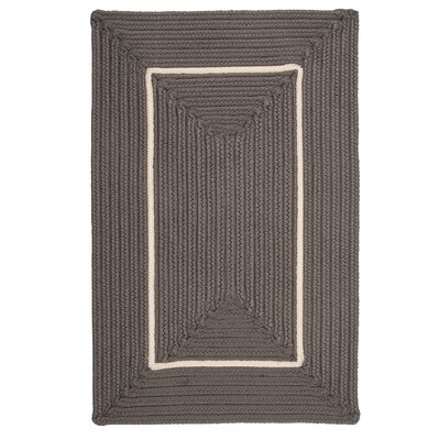 Doodle Edge Gray Border in Border Indoor/Outdoor Area Rug Rug Size: 5 x 7