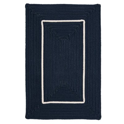 Doodle Edge Navy Border in Border Indoor/Outdoor Area Rug Rug Size: 2 x 3