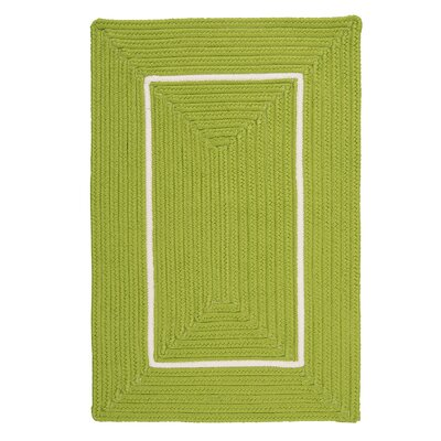 Doodle Edge Bright Green Border in Border Indoor/Outdoor Area Rug Rug Size: 4 x 6