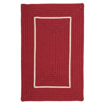 Doodle Edge Red Border in Border Indoor/Outdoor Area Rug Rug Size: 5 x 7