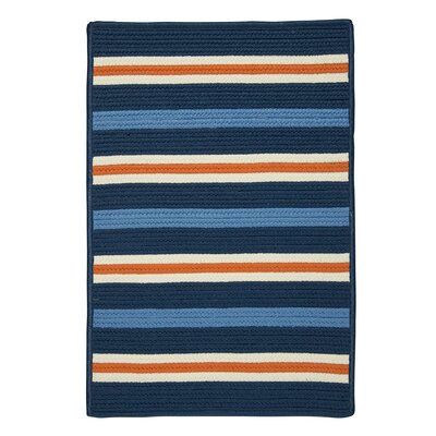 Painter Stripe Set Sail Blue Indoor/Outdoor Area Rug Rug Size: 5 x 7