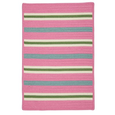 Painter Stripe Spring Pink Indoor/Outdoor Area Rug Rug Size: 5 x 7