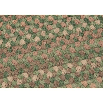 Gloucester Cabana Braided Green Area Rug Rug Size: Square 12'