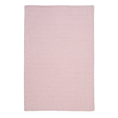 Solid Chenille Pink Area Rug Rug Size: Rectangle 8 x 10