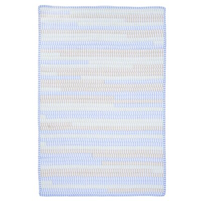 Ticking Stripe Rect Starlight Area Rug Rug Size: Square 8