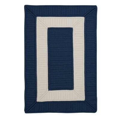 Rope Walk Navy Area Rug Rug Size: Square 6'