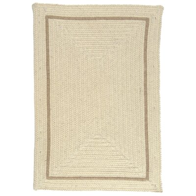 Shear Natural Canvas Area Rug Rug Size: Square 4'