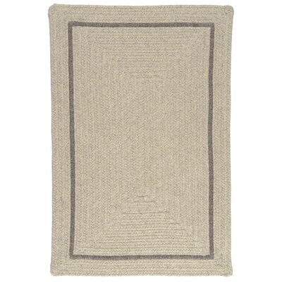 Shear Natural Cobblestone Area Rug Rug Size: Square 12