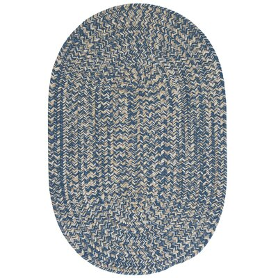 Maleah Denim Area Rug Rug Size: Oval 12 x 15