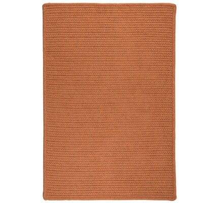 Irini Hand-Woven Orange Area Rug Rug Size: 8 x 10