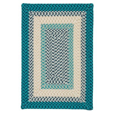 Marathovounos Hand-Woven Wool Blue Area Rug Rug Size: Square 12