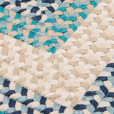 Marathovounos Hand-Woven Wool Blue Area Rug Rug Size: Square 6