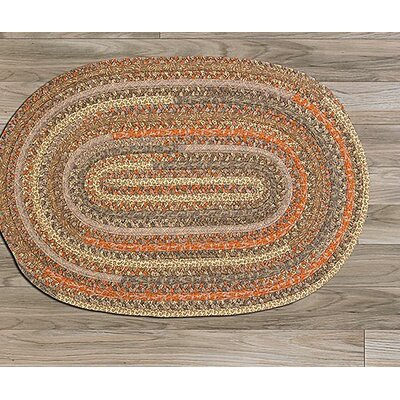 Print Party Ovals Brown Area Rug Rug Size: Round 10