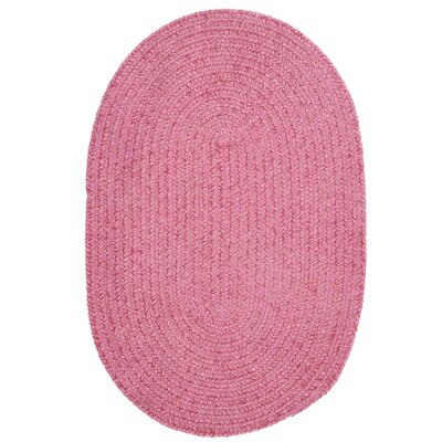 Spring Meadow Silken Rose Area Rug Rug Size: Oval 7 x 9