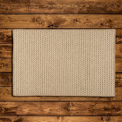 Natural Wool Houndstooth Braided Tea Area Rug Rug Size: Square 6