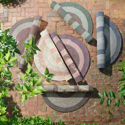 Brook Farm Blackberry Indoor/Outdoor Area Rug Rug Size: Oval 4 x 6
