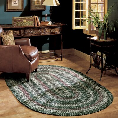 Brook Farm Winter Greens Indoor/Outdoor Area Rug Rug Size: Oval 4 x 6