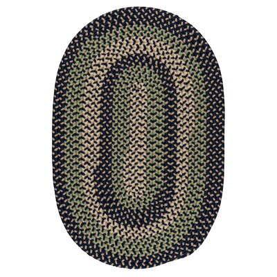 Brook Farm Bluestone Indoor/Outdoor Area Rug Rug Size: Oval Runner 2 x 8