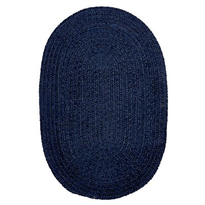 Spring Meadow Navy Area Rug Rug Size: Oval 7 x 9
