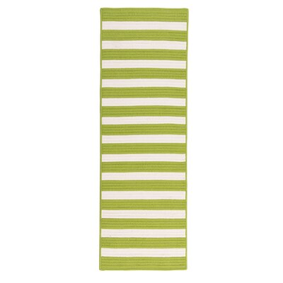 Georg Bright Lime Indoor/Outdoor Area Rug Rug Size: Runner 2 x 10