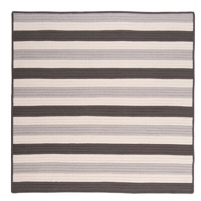 Georg Silver Indoor/Outdoor Area Rug Rug Size: Square 8