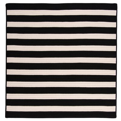 Georg Black/White Indoor/Outdoor Area Rug Rug Size: Square 8
