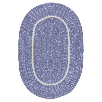 Silhouette Purple Indoor/Outdoor Area Rug Rug Size: Oval 12 x 15