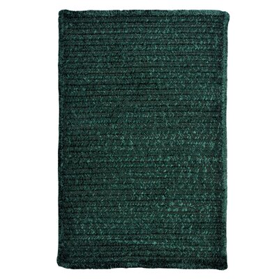 Solid Chenille Dark Green Area Rug Rug Size: Square 7
