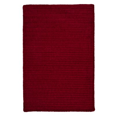 Solid Chenille Sangria Area Rug Rug Size: Rectangle 10 x 13