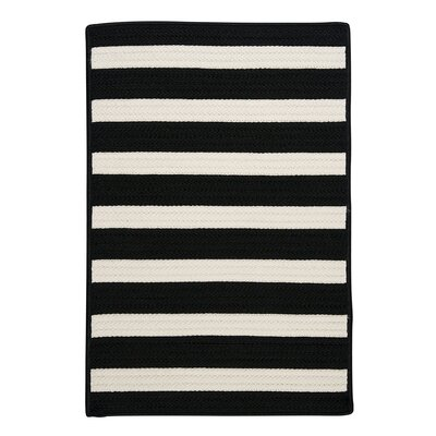 Stripe It Black/White Indoor/Outdoor Area Rug Rug Size: Square 6