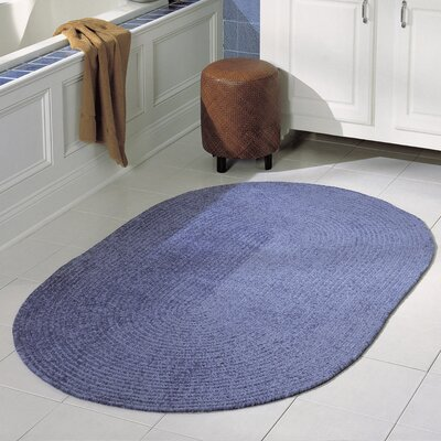 Spring Meadow Petal Blue Area Rug Rug Size: Oval 7 x 9