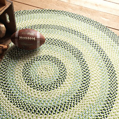 Carousel Neon Green / Tan Area  Rug Rug Size: Rectangle 7 x 9