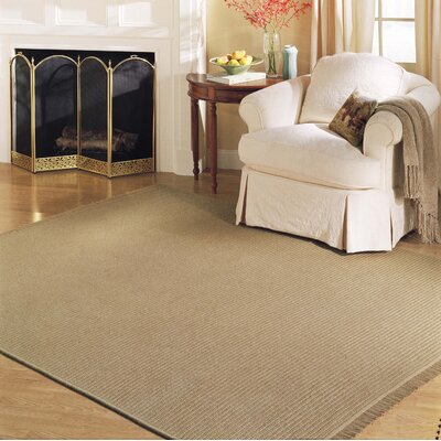 Westminster Oatmeal Area Rug Fringe: Included, Rug Size: 10 x 13