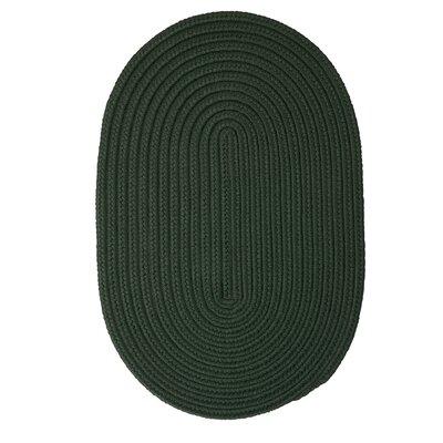 Boca Raton Dark Green Outdoor Area Rug Rug Size: Oval 10' x 13'