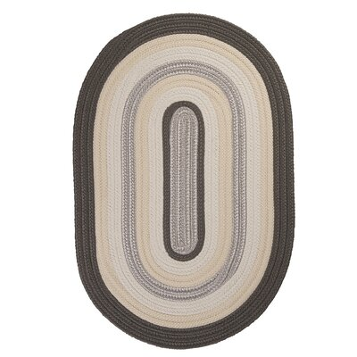Brooklyn Slate Braided Indoor/Outdoor Area Rug Rug Size: 3 x 5