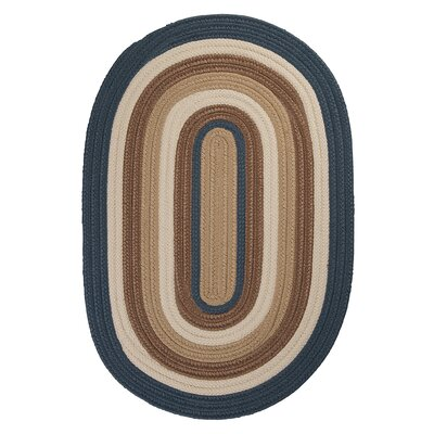 Brooklyn Blue Haze Braided Indoor/Outdoor Area Rug Rug Size: Round 4